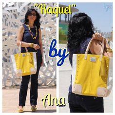 Diseñadoras-clientas luciendo sus diseños customizados de CBY. Ana con su 'Raquel' personalizado! Gracias Ana! www.collectionbyyou.com