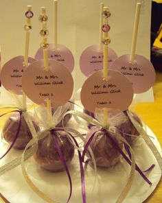 Sample of Cake Pop Place Cards for all occasions