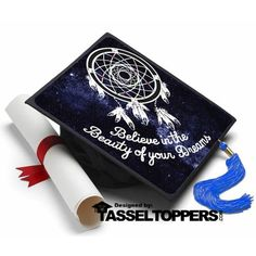 Nothing wrong with setting your dreams and aspirations high. Just believe in yourself!!! Decorate your Graduation Cap the professional way with a Tassel Topper! Make graduation fun and stand out in a