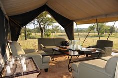 And Beyond Under Canvas, Serengeti - Sleeping in tents right next to lions and zebras and hyenas!