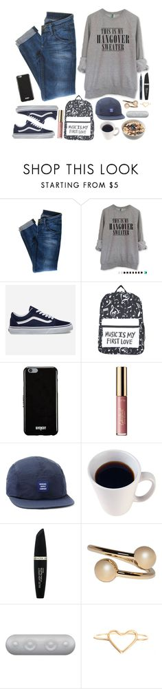 """""""Good Morning"""" by iarsotelo ❤ liked on Polyvore featuring beauty, Hudson Jeans, Vans, Hot Topic, Givenchy, tarte, Herschel, Max Factor, J.W. Anderson and Beats by Dr. Dre"""