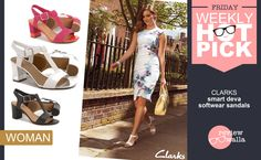 #WeeklyHotPickWoman Smart Deva Softwear #sandals by Clarks India, perfect day wear sandal that exudes #class! Buy at Jabong #hot #classy #fashion #footwear #reviewwalla