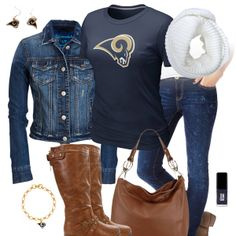 St. Louis Rams Jean Jacket Outfit