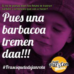 Cuando el chantaje no funciona...fiesta!!! #FelizLunes Petits!!!  www.petitpascon.es  #frasesquetedejanrota #familiasmolonas #cosasdeniños #infanciafeliz #niños