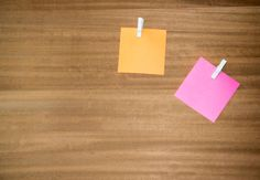 orange and pink note paper