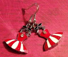 Earrings  Handmade Charming Style The Ballerina by CraftyChic90, $4.00