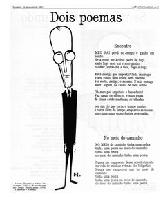 Aniversário de 112 anos de Carlos Drummond de Andrade   Acervo O POVO Online