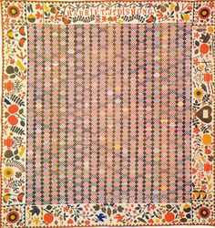 Can't tell the size of the quilt but the center triangles must be really tiny.  What an amazing piece of art!  Pieced & Applique Quilt 1890 Pennsylvania by SurrendrDorothy, via Flickr