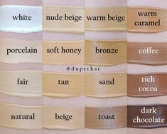 New LA Girl HD Pro Coverage Illuminating foundation swatches of all 16 shades by DupeThat!