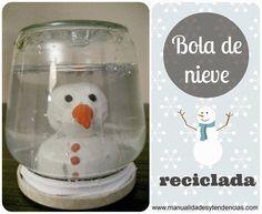 DIY Tutorial bola de nieve reciclada / recycled snowball/ boule de neige recyclé
