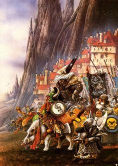 John Blanche The Awakening Warhammer Fantasy High Fantasy, Fantasy World, Medieval, Warhammer Fantasy, Fantasy Illustration, Geek Art, Fantasy Inspiration, Artist Gallery, Fantasy Artwork
