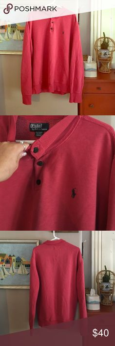Polo sweatshirt Awesome polo button up sweatshirt! Men's large! Comfortable oversized 'boyfriend' sweatshirt too :) Polo by Ralph Lauren Shirts Sweatshirts & Hoodies