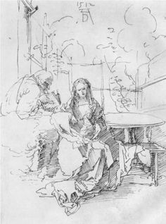 The Holy Family in the arbor - Alberto Durero