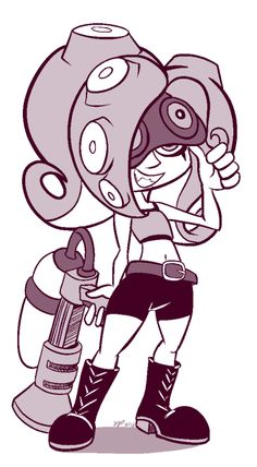Mike's Art 'n' Stuff, Gotta get my Octoling fix for the day