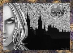 """""""Dark"""" 2013 44x32,6 Matita e acrilico su carta"""