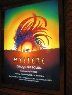 Another Cirque du Soleil show we are seeing while we are in Vegas.
