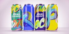 It seems that individualized cans are loving the spotlight, and the  relationship between Bud Light and Mad Decent Block Party is still going  strong. The latest unique cans were created by Daniel Triendl for their  2015 tour.