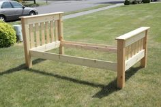Simple Bed Twin   Do It Yourself Home Projects from Ana White
