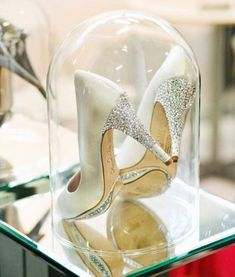 "Since rings are out of the questions..He should slip my ""glass slipper"" on my foot. Who could say no to a pair of gorgeous Jimmy Choo's or Loubitan's?"