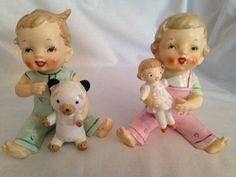 Vintage Decorative Collectible Boy & Girl Napcoware ?? Figurines, Japan in Collectibles | eBay