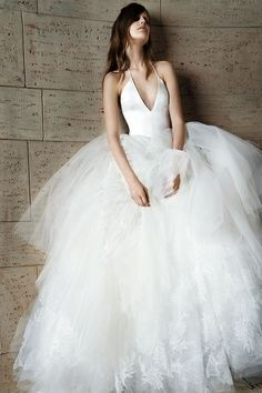 Vera Wang Spring 2015. See all of the best looks from Bridal Week here.