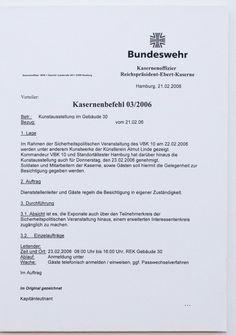 "Kasernenbefehl 03/2006; Kunstpalais Erlangen Ausstellung ""Radical Beauty"" German, Beauty, Erlangen, Armed Forces, Art, Deutsch, German Language"