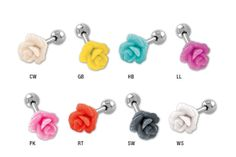 Ohrpiercing (Helix)  mit Rose