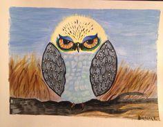Acrylic owl..so fun to make