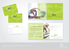 Business Cards & Information Cards for Chancellor Pilates Practice.