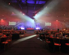 Christmas arena party night for 1800 guests!  What a night! - but this was the calm before the storm! www.eventhireuk.com