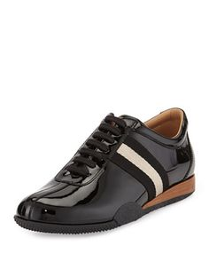 Frenz Patent Leather Sneaker, Black by Bally at Neiman Marcus.