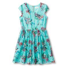 Girls' Floral A-Line Dress