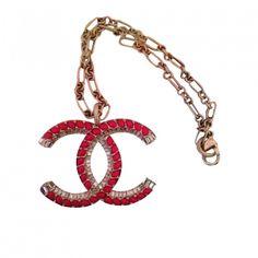 Pendentif, collier pendentif CHANEL / Rot, bordeauxrot / Metall