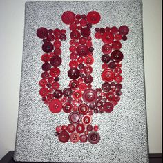 IU button monogram!  I, Danny Pettry graduated from Indiana Unversity with a M.S. degree in Recreational Therapy in 2006! Go Hoosiers!