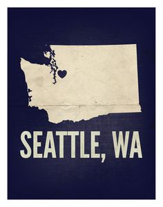 "Someone buy me this print!    Seattle, WA Love Print, 11"" x 14"". $29.99, via Etsy."