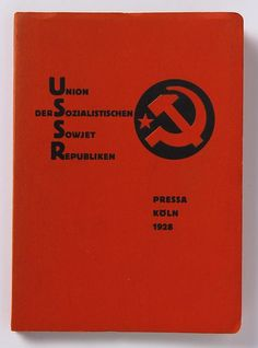 El Lissitzky, Union der sozialistischen Sowjet Republiken. Katalog des Sowjet-Pavillons auf der Internationalen Presse-Ausstellung, Köln, 1928. 21,2 x 15,2 x 1 cm, 18 page photoleporello, letterpress on paper, The Van Abbemuseum The Netherlands.