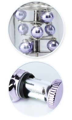 Fancy Rabbit Pearl Purple Vibrator PD161312. For women who prefer the finer things in life, this shiny designer Rabbit Pearl is the must-have accessory of the season! Made form body-safe, phthalate-free Thermoplastic Elastomer TPE, this dual-action rotating vibe features three rows of shiny metallic beads , a smooth rotating shaft, and a powerful bunny-shaped clit stimulat...