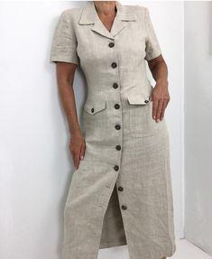 Classic Linen Button Up Straight Cut Maxi Dress Budget Fashion, Fast Fashion, Womens Fashion, Safari Dress, Dress Outfits, Fashion Outfits, Straight Cut, Fashion Brands, Shirt Dress