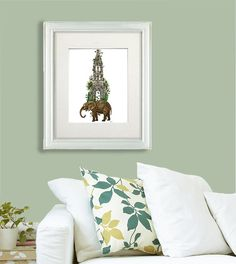 Elephant print  Elephant tower magical realism by LoopyLolly
