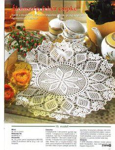 Kira scheme crochet: Scheme crochet no. Crochet Stitches Free, Crochet Doily Diagram, Crochet Doily Patterns, Crochet Chart, Crochet Motif, Crochet Doilies, Crochet Round, Crochet Christmas Wreath, Decorative Napkins