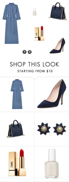 """""""Untitled #9542"""" by mie-miemie ❤ liked on Polyvore featuring Cefinn, Kate Spade, Strathberry, Valentino, Yves Saint Laurent and Essie"""