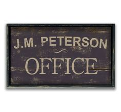Hey, I found this really awesome Etsy listing at https://www.etsy.com/listing/221557089/personalized-wooden-office-sign-framed