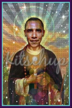 Obama Prayer candle from Kitschup Creations
