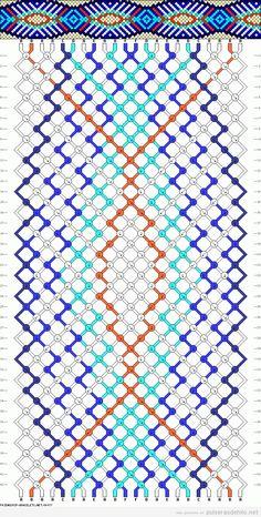 Patrón pulsera de hilos con estampado de ondas                                                                                                                                                                                 Más