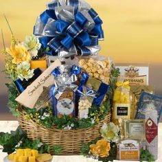 Deluxe Meat Cheese and Treats Gourmet Gift Basket « Delay Presents