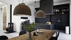 Smukt sort køkken