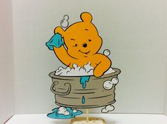 1ft Winnie the Pooh in Tub Centerpiece,Birthday Decorations,Baby Shower Decors,Party Supplies,Birthday Props,Picture Props