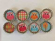 🎉Owl Party Glitter Magnets Woodland Animals Party Favors Goodie Bag Fillers 8Pc #BoutiqueChicGallery #BirthdayChild
