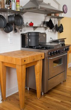 What a difference a little sanding and block cream makes! See how to refinish a butcher block or cutting board in this easy home DIY project.