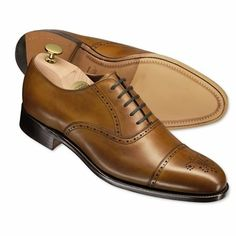 Cedar Stanhope calf leather semi-brogue shoes | Men's business shoes from Charles Tyrwhitt, Jermyn Street, London